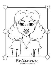 Coloring Pages for African American Girls - Charmz Girl: Brianna