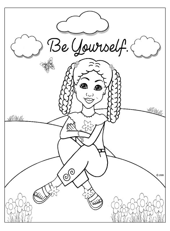 - Coloring Pages For African American Girls - Charmz Girl: