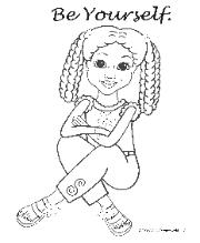 Coloring Pages for African American Girls-Charmz Girl: Jordan