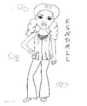 Coloring pages for African American girls - Charmz Girl: Kendall