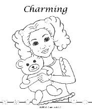 Coloring Pages for African American girls-Charmz Girl: Maya